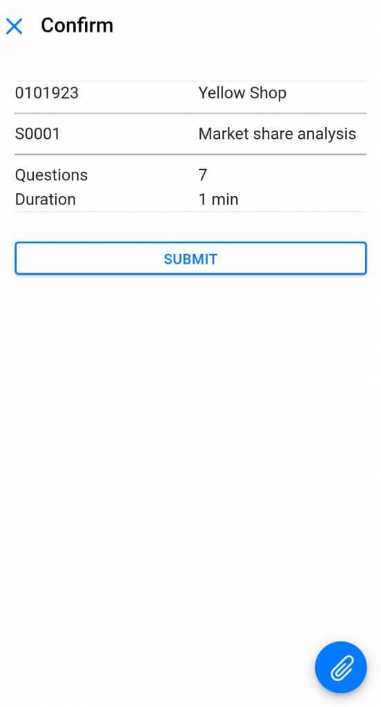 Dynamics Mobile Merchandise screenshot survey confirmation